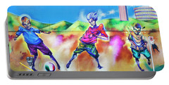 Portable Battery Charger featuring the photograph Soccer Graffiti by Theresa Tahara