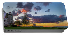 Sodus Bay Lighthouse At Sunset Portable Battery Charger