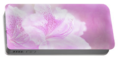 Soft And Lovely Pink Rhododendrons  Portable Battery Charger