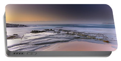 Soft And Rocky Sunrise Seascape Portable Battery Charger