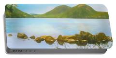 Soft Art Photograph Jordan Pond Acadia Nat. Park Maine Portable Battery Charger