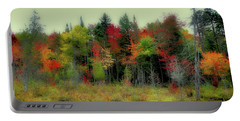 Portable Battery Charger featuring the photograph Soft Autumn Panorama by David Patterson