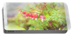 Soft Bleeding Hearts Portable Battery Charger
