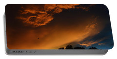 Soft Clouds And Contrast Portable Battery Charger by Warren Thompson