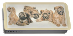 Soft-coated Wheaten Terrier Puppies Portable Battery Charger