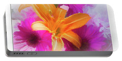 Soft Day Lily Portable Battery Charger