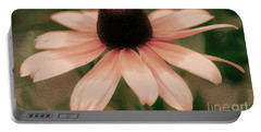 Soft Delicate Pink Daisy Portable Battery Charger by Judy Palkimas