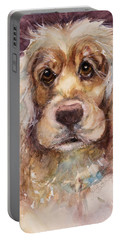 Soft Eyes Portable Battery Charger by Judith Levins