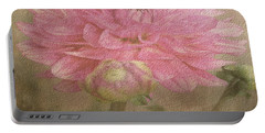 Soft Graceful Pink Painted Dahlia Portable Battery Charger by Judy Palkimas