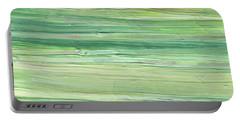 Soft Green Organic Abstafor Interior Decor Viii Portable Battery Charger