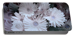 Soft Pink Daisy Bouquet Portable Battery Charger by Jeannie Rhode