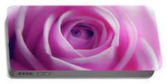 Soft Pink Rose 5 Portable Battery Charger