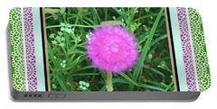 Portable Battery Charger featuring the photograph Soft Pink Thistle by Shirley Moravec