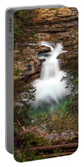 Portable Battery Charger featuring the photograph Soft Smooth Waterfall by Darcy Michaelchuk