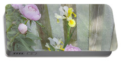 Soft Summer Flowers Portable Battery Charger