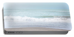 Soft Waves 2- Art By Linda Woods Portable Battery Charger