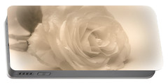 Portable Battery Charger featuring the photograph Soft White Rose by Scott Carruthers