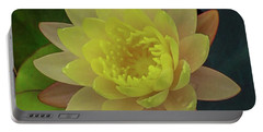 Softly Pink And Yellow Lilly Portable Battery Charger