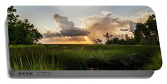 Portable Battery Charger featuring the photograph Softly The Evening Came With The Sunset by Chris Bordeleau