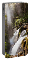 Portable Battery Charger featuring the photograph Sol Duc Falls by Adam Romanowicz
