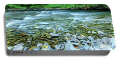 Sol Duc River In Summer Portable Battery Charger