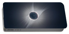 Solar Corona During The Eclipse Of August 21 2017 Portable Battery Charger