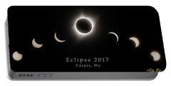 Portable Battery Charger featuring the photograph Solar Eclipse Collage 2 by Rikk Flohr