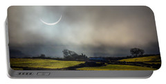 Solar Eclipse Over County Clare Countryside Portable Battery Charger