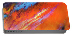 Solar Flare Up. Acrylic Abstract Painting On Canvas. Portable Battery Charger