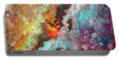 Solar Fusions Abstract Painting.  Portable Battery Charger