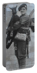 Portable Battery Charger featuring the photograph Soldier And Goat by Therese Alcorn
