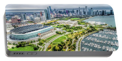 Soldier Field Chicago Skyline Portable Battery Charger