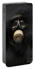 Soldier In Gas Mask Portable Battery Charger