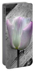 Solitary Pink Whisper Tulip Portable Battery Charger