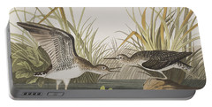Solitary Sandpiper Portable Battery Charger by John James Audubon