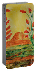 Portable Battery Charger featuring the photograph Solitary Sunset by Maria Urso
