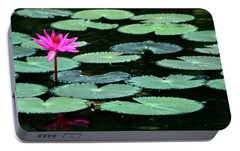 Portable Battery Charger featuring the photograph Solitary Water Lily by Laurel Talabere