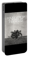 Solitude Is Freedom Portable Battery Charger by Inspired Arts