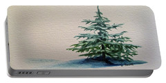 Portable Battery Charger featuring the painting Solitude by Wendy Shoults