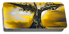 Portable Battery Charger featuring the digital art Solitude by Yul Olaivar