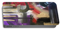 Portable Battery Charger featuring the painting Solvent Cosmo by Alisha Anglin