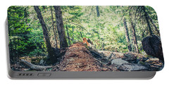 Portable Battery Charger featuring the photograph Somber Walk- by JD Mims
