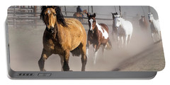 Sombrero Ranch Horse Drive At The Corrals Portable Battery Charger