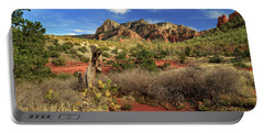 Some Cactus In Sedona Portable Battery Charger by James Eddy