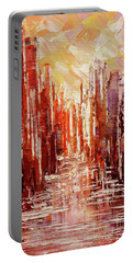 Portable Battery Charger featuring the painting Some Golden Day by Tatiana Iliina