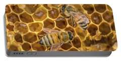 Portable Battery Charger featuring the photograph Some Of Your Beeswax by Bill Pevlor