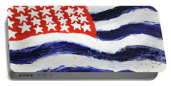Portable Battery Charger featuring the painting Something's Wrong With America by Thomas Blood
