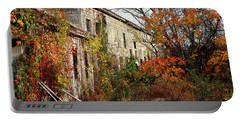 Somewhere In Rhode Island - Abandoned Mill 001 Portable Battery Charger by Lon Casler Bixby