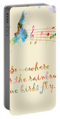 Somewhere Over The Rainbow Portable Battery Charger by Nikki Smith