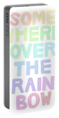 Somewhere Over The Rainbow Portable Battery Charger by Priscilla Wolfe